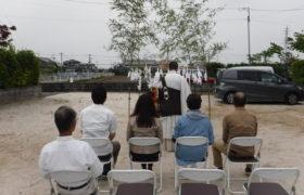 佐賀市大和町にて地鎮祭でした。